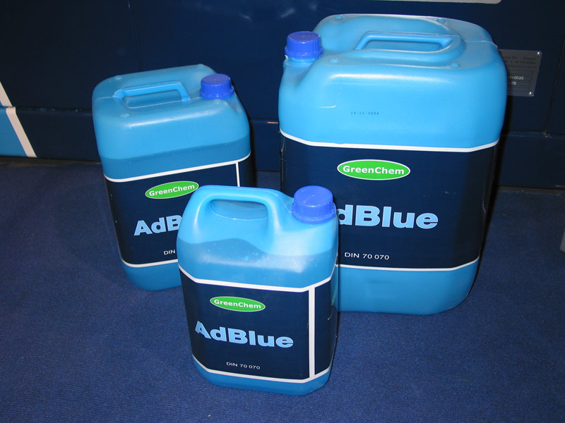 Small container of AdBlue
