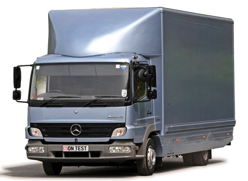unusually, atego offered a choice of three dashboards  the standard  distribution layout is the most basic, but is combined with a centre seat