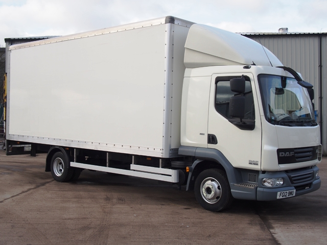 2012,12 reg Daf FA LF45.160 Sleeper 20 Foot 4ins Box c/w Taillift