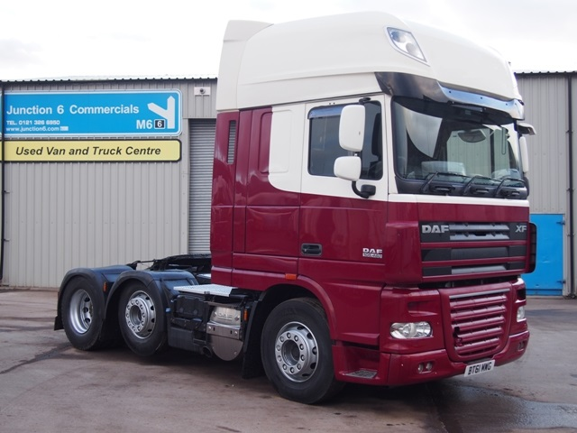 2012, 61 reg FTG XF105.460 SuperSpace 6x2 Tractor Unit