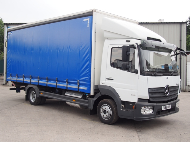 2016,66 reg Mercedes-Benz Atego 816 20 Foot 6ins Curtain c/w Taillift