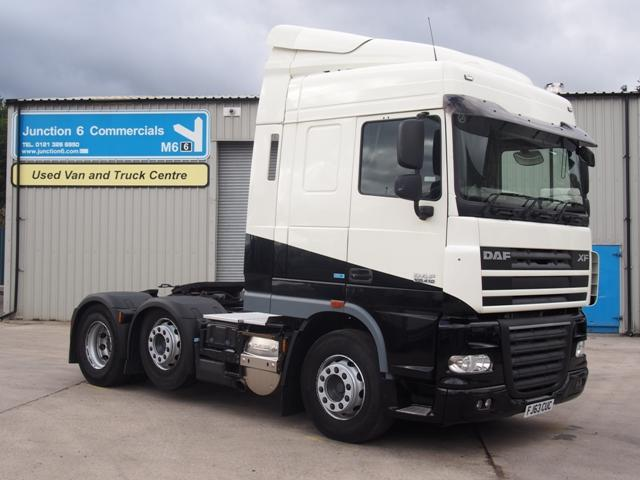 2013,63 reg DAF FTG XF105.410 ATe Spacecab 6x2 Tractor Unit