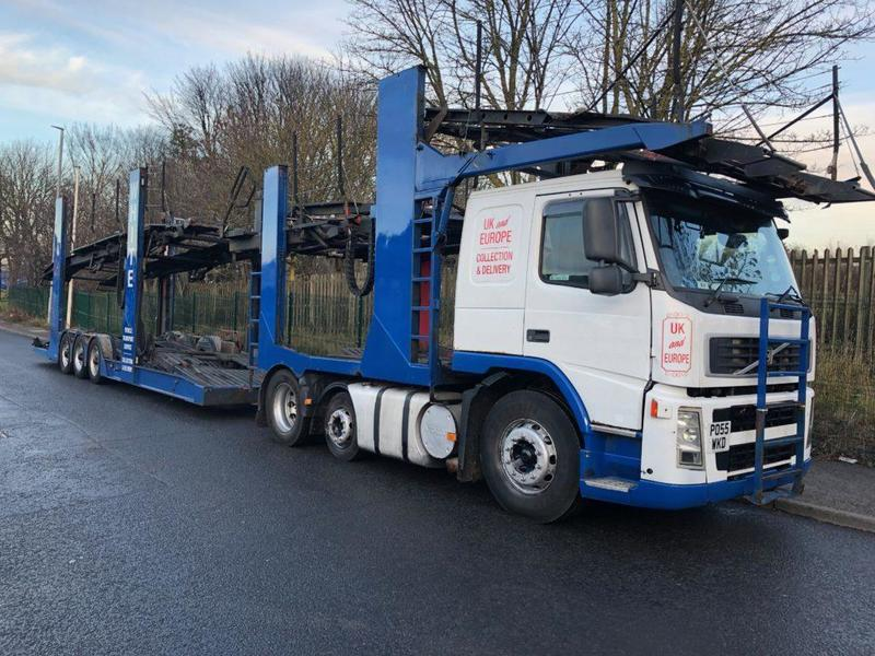 55 REDG  VOLVO 6X2 FITTED TRANSPORTER ENGINEERING