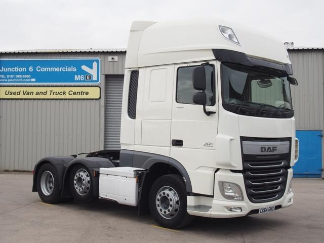 2014,64 reg DAF FTG XF460 SuperSpace 6x2 Tractor Unit