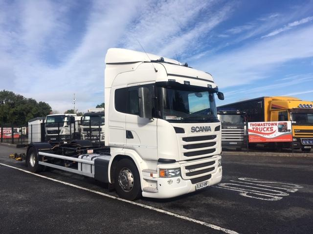 2013 SCANIA G230 4X2 CHASSIS CAB WITH DEMOUNT EQUIPMENT, TUCK AWAY TAIL LIFT,