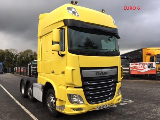 2014 DAF XF510 SUPERSPACE 6X2 T/UNIT