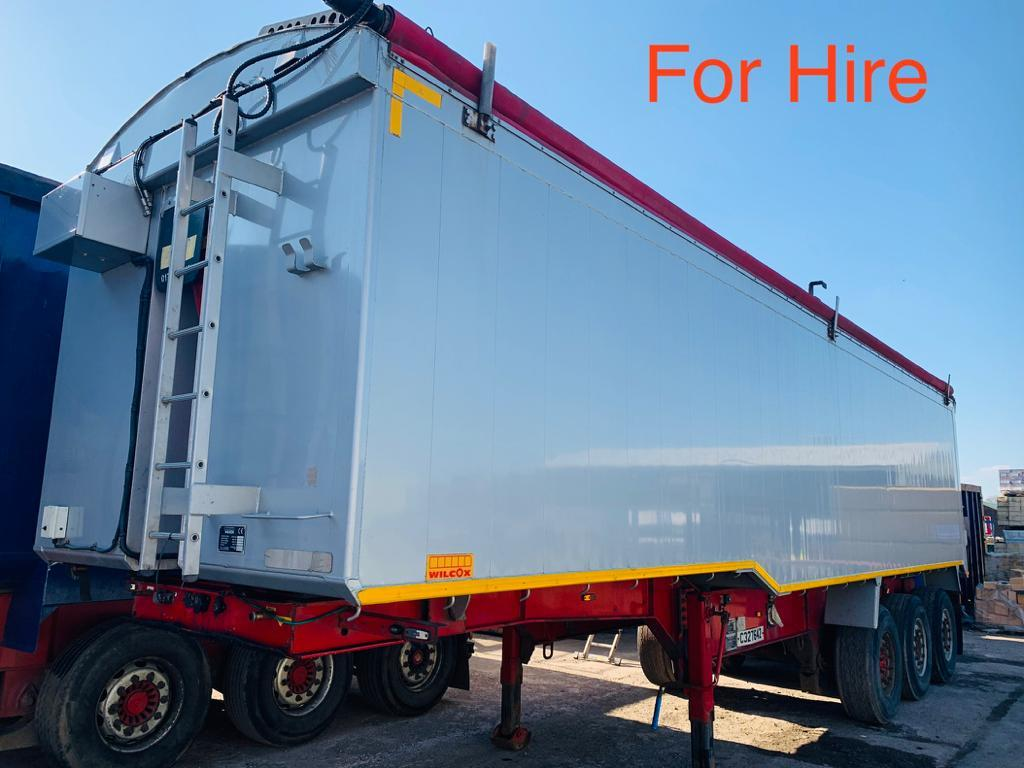 FOR HIRE: 2012 Wilcox Alloy Plank Sided Tri Axle Tipping Trailer