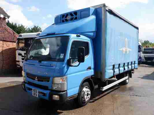 2012 Mitsubishi Canter 7C15 Refrigerated Curtain Side