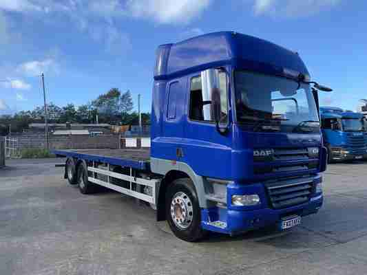 2007 DAF CF85.380 Space Cab, 16 Speed Manual, 28FT Flatbed, 6x2.