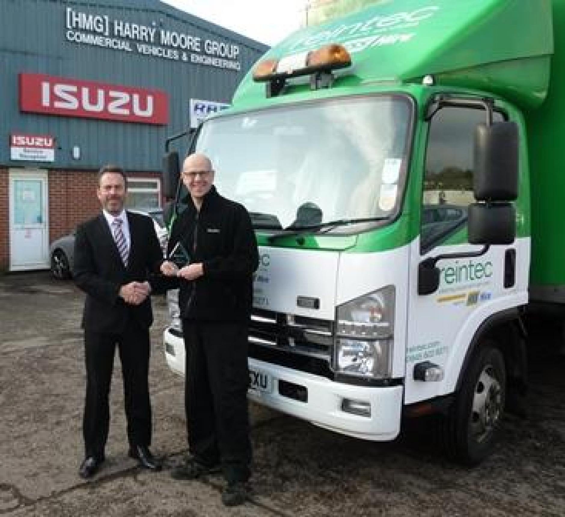 Matt Stubbs From Exeter Based Dealership Harry Moore Commercials Has Won  The Isuzu Truck UK Parts Manager Of The Year Award 2015.