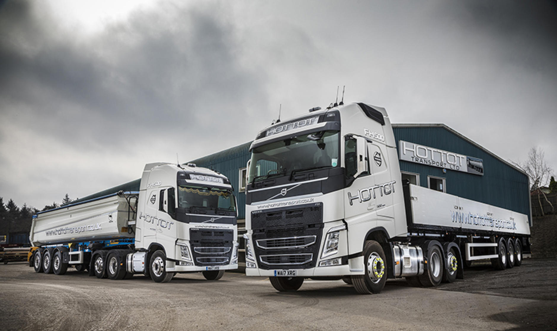 Volvo FH 6x2 tag axle tractor units from Stuarts Truck and Bus