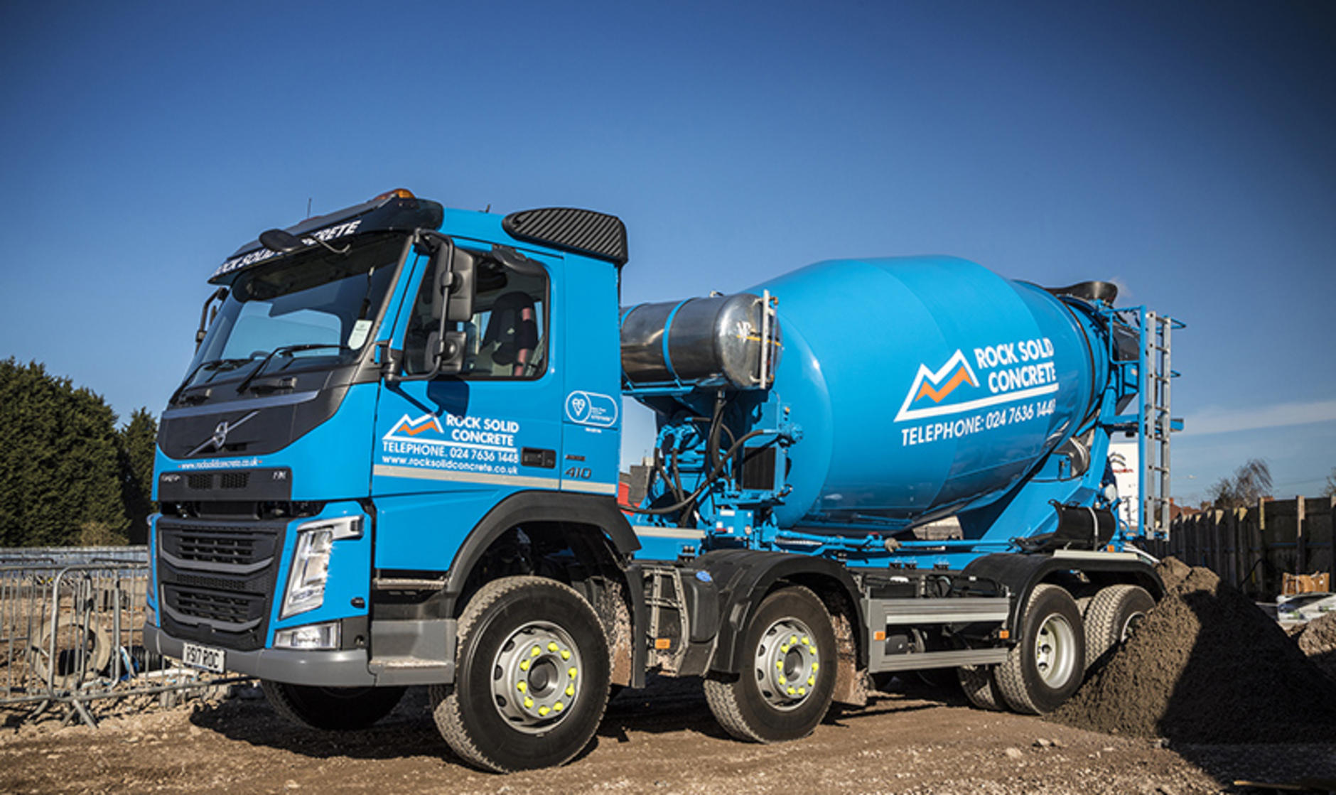 Rock Solid Concrete >> Volvo Fm 8x4 With Remote Control Mixer For Rock Solid Mixer Hire