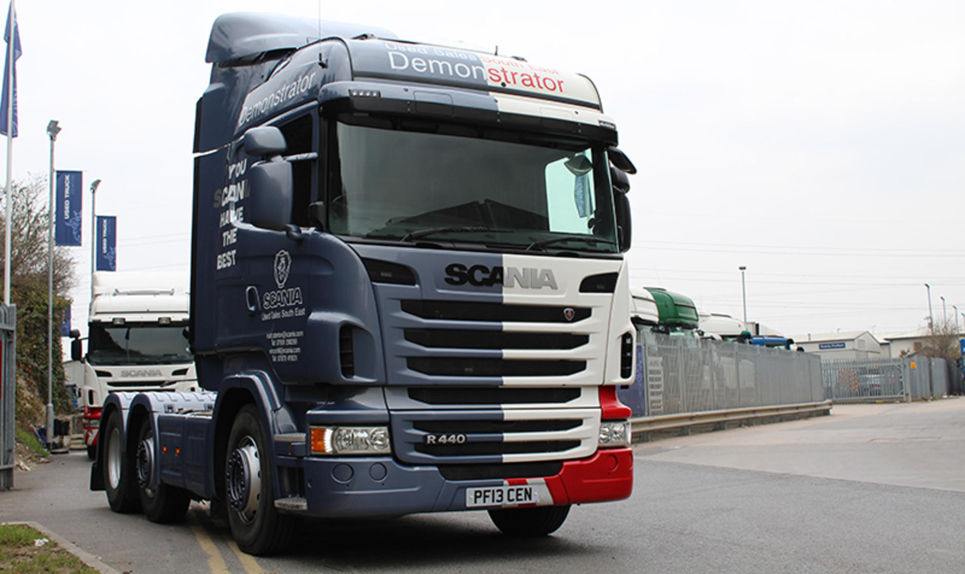 Used r450 demonstrator truck wins customers for scania for Newspaper wallpaper for sale