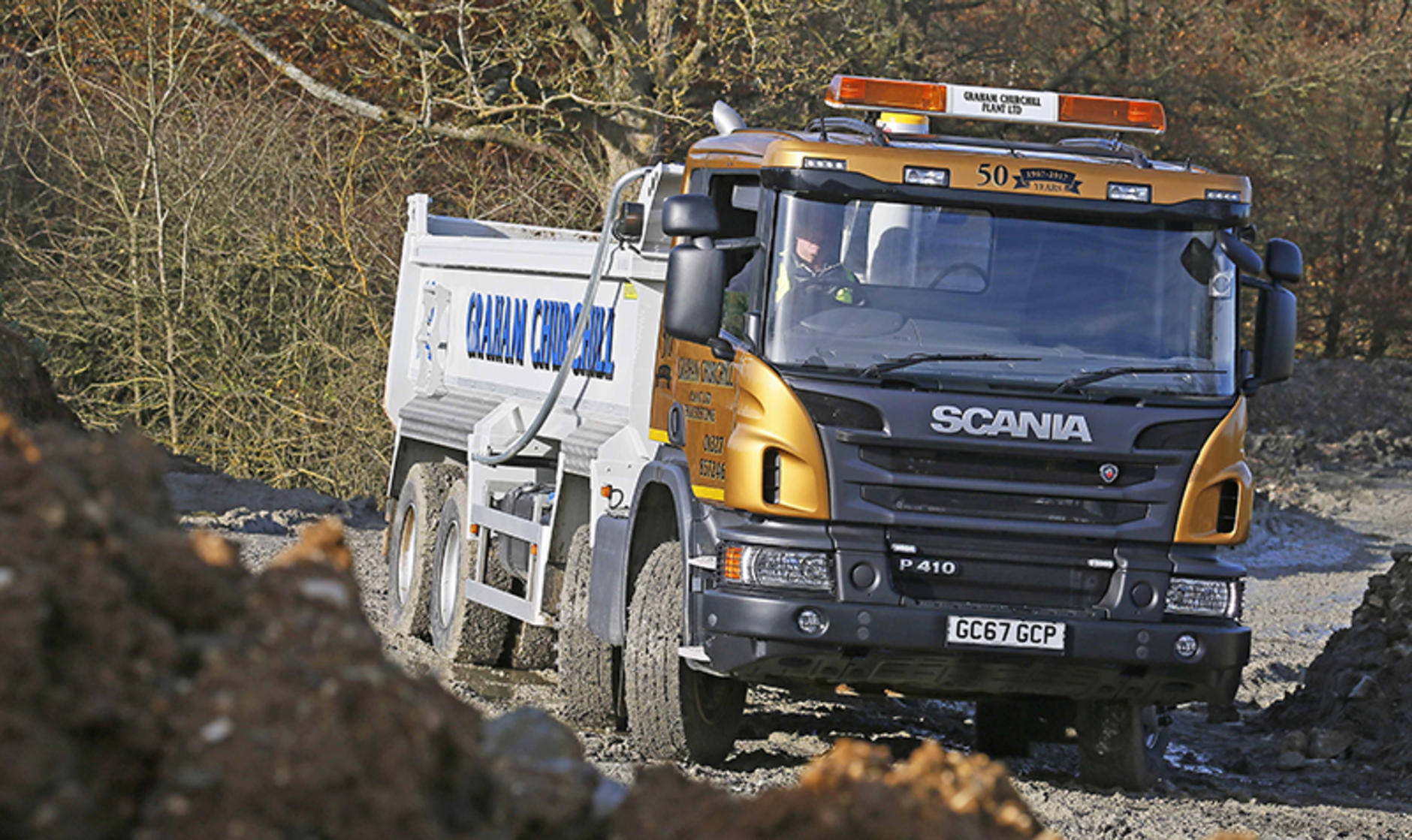 Graham Churchill's 50th anniversary Scania tipper