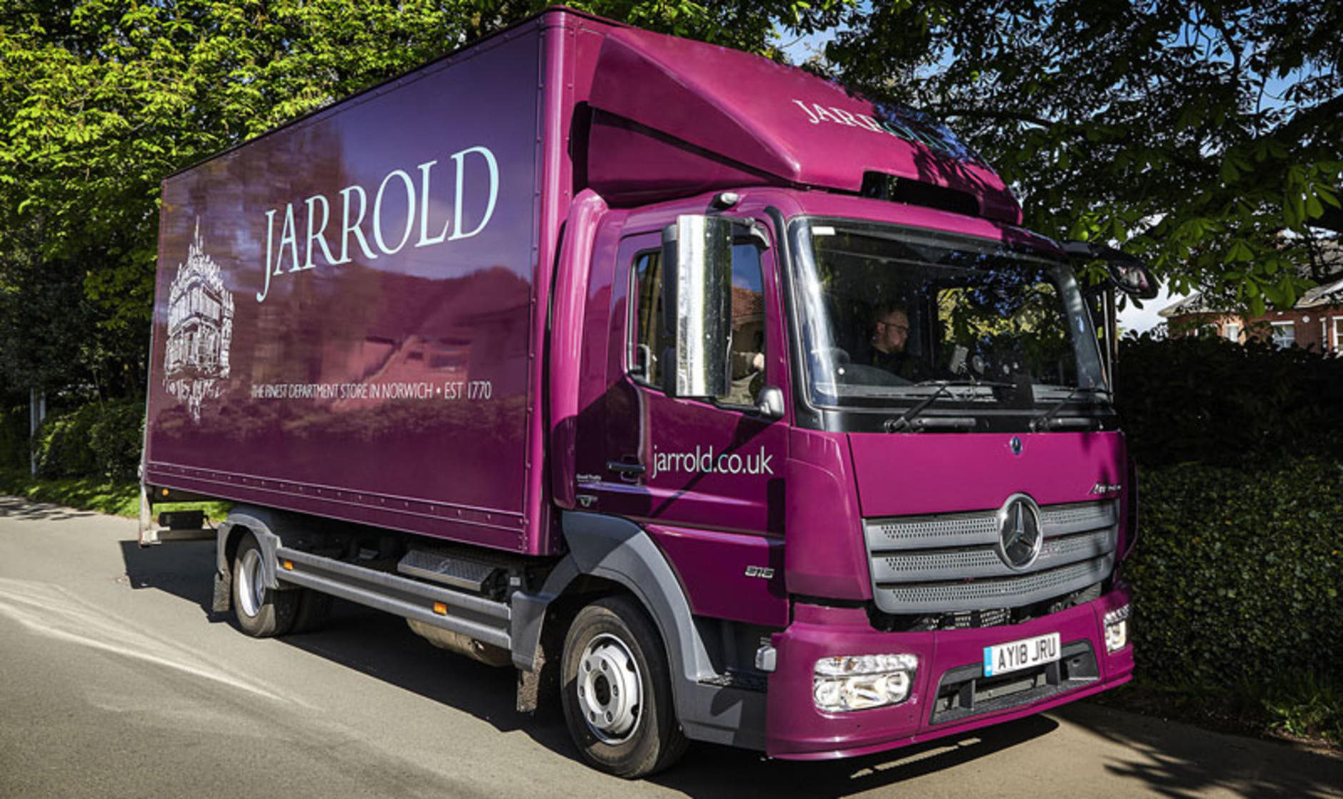 a5579cd695 Orwell Truck   Van supplies department store Jarrold with two ...