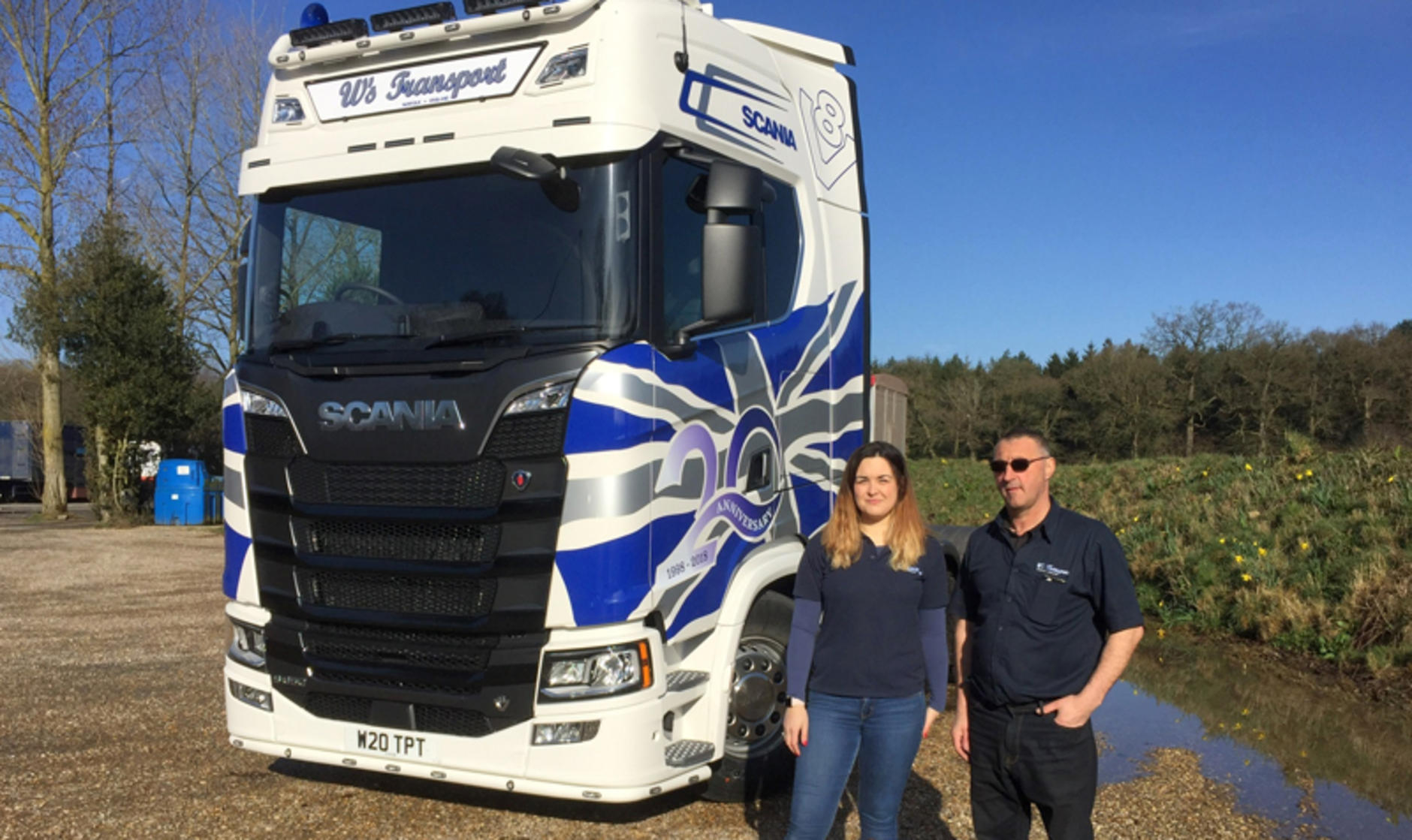 Anniversary Scania S650 V8 tractor unit for Norfolk-based