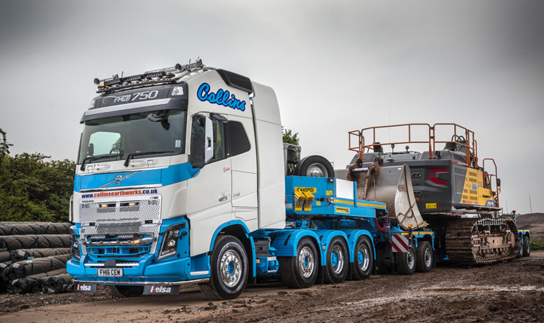 collins earthworks takes 8x4 volvo tractor unit after run with
