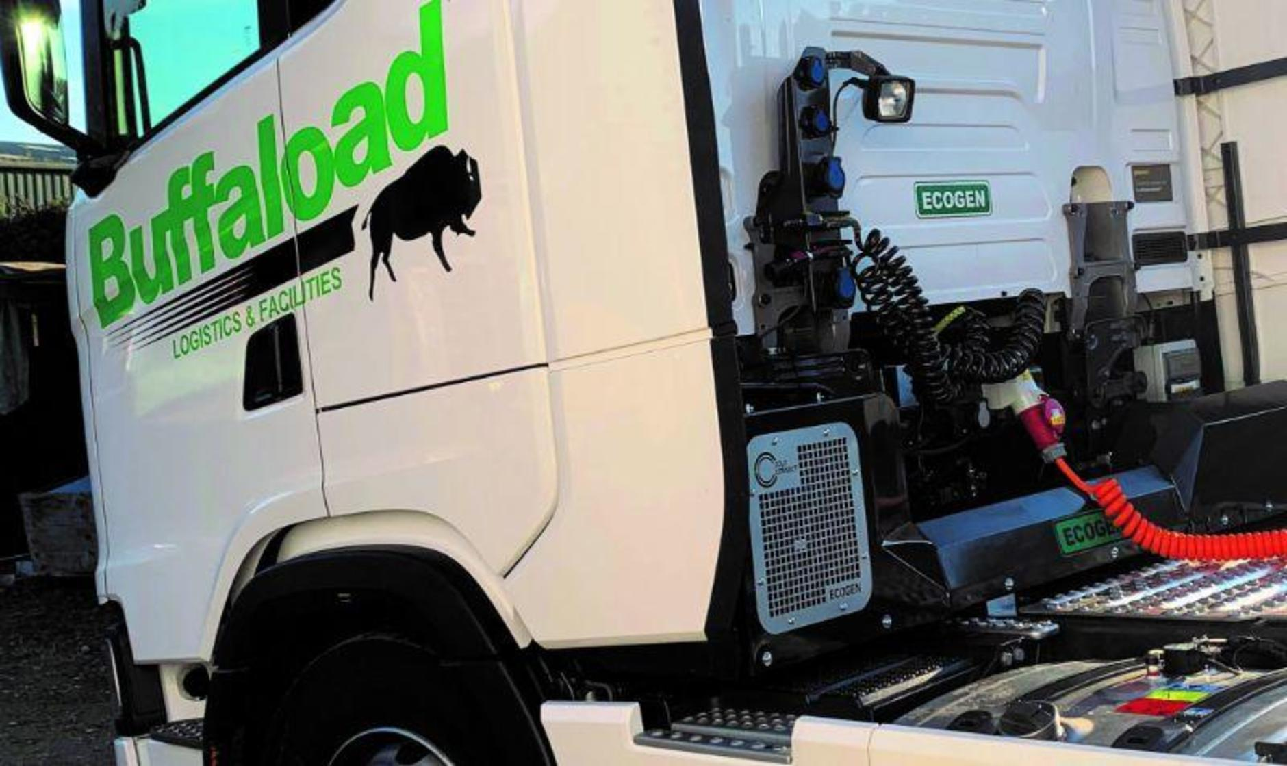 Ecogen device on Buffaload's Scanias