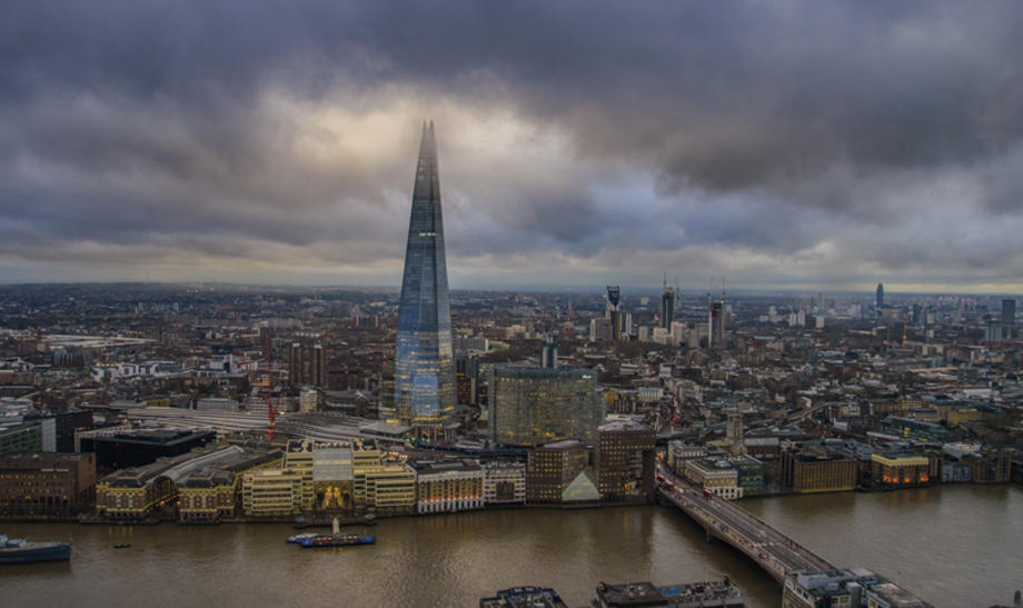 London view featuring the Shard