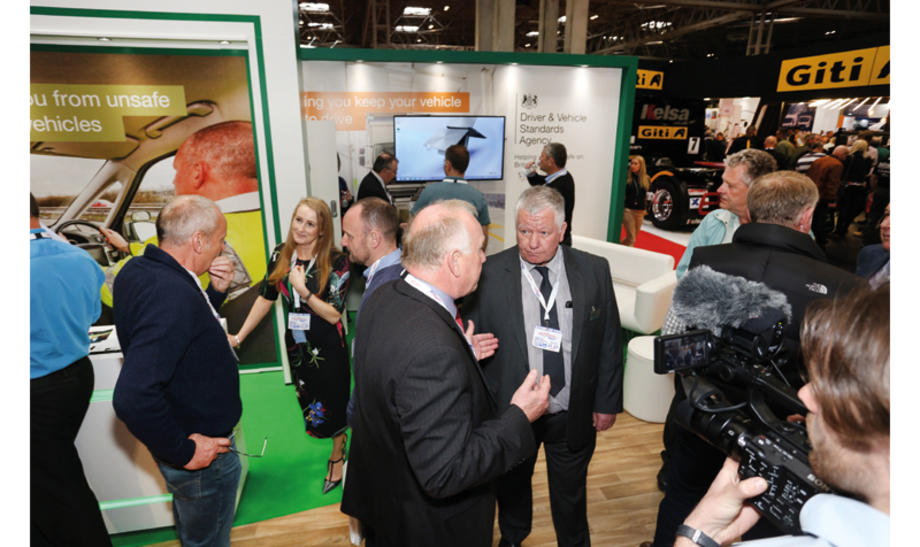 ATF protest at DVSA stand