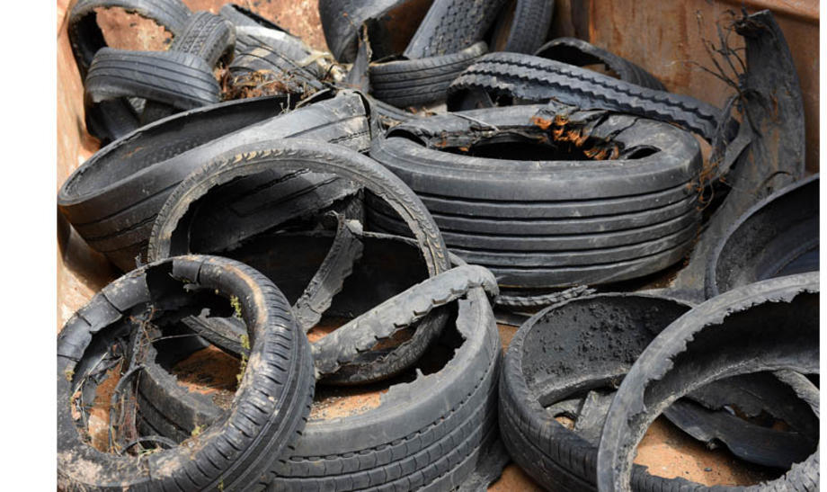 ruined tyres