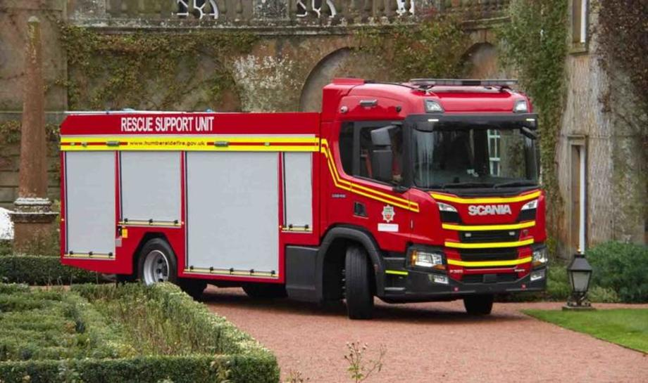 Scania P series fire truck