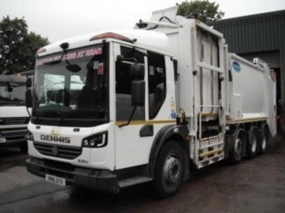 The used truck of the day is this 2016 Dennis Elite 6 8x4 refuse vehicle