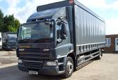 DAF CF65 250, 2012, 4X2 day cab, 30ft curtainside truck, 1 owner, DAF service, low kms