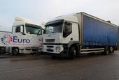 Iveco Stralis AT260.310, 6x2, curtain sided, rigid, Sleeper cab.