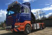 Scania - R580 V8, 2005 with Amco Veba hiab / crane