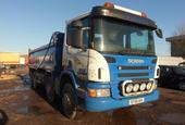 2009 SCANIA P380 8X4 TIPPER WITH THOMPSON STEEL BODY