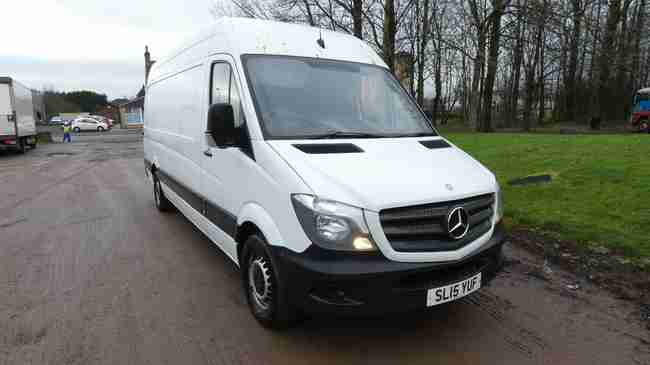 2015 65 Mercedes Sprinter 313CDI LWB used panel van for sale, bargain just off contract hire with service history.