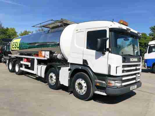 2119 SCANIA 114 340 8X4 STAINLESS STEEL TANKER