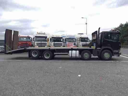 2011 SCANIA P360 D/CAB 8X2 ANDOVER BEAVERTAIL PLANT BODY
