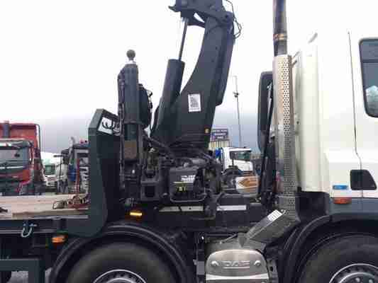2013 DAF CF85.360 8X2 BEAVERTAIL WITH REMOTE CONTROL EXT CRANE