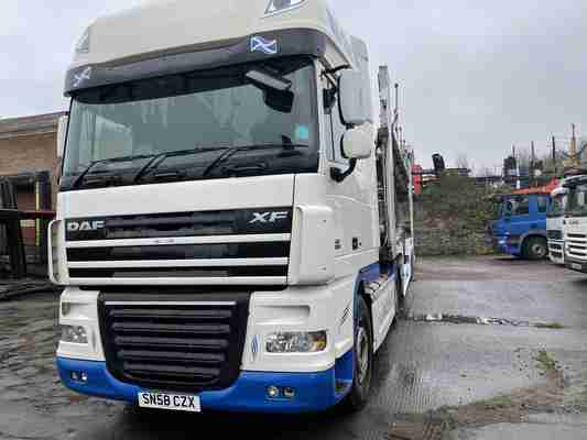 58 PLATE DAF XF 510 SUPER SPACE TESTED FEB 2022 WITH 9 CAR TE TRAILER