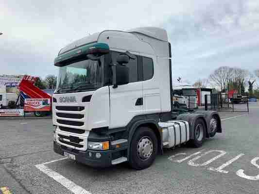 2018 SCANIA HIGHLINE R450 REAR LIFT TAG AXLE T/UNIT WITH TIPPING GEAR
