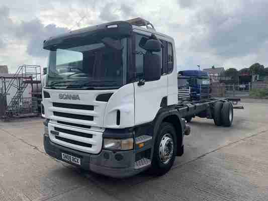 Large Choice 2007-2009 Scania P230 18 Chassis Cab in Stock!