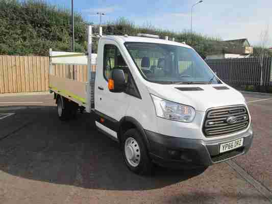 2016/66 FORD TRANSIT 2.2 TDCI T350 LONG WHEEL BASE DROP SIDE WITH TAIL LIFT